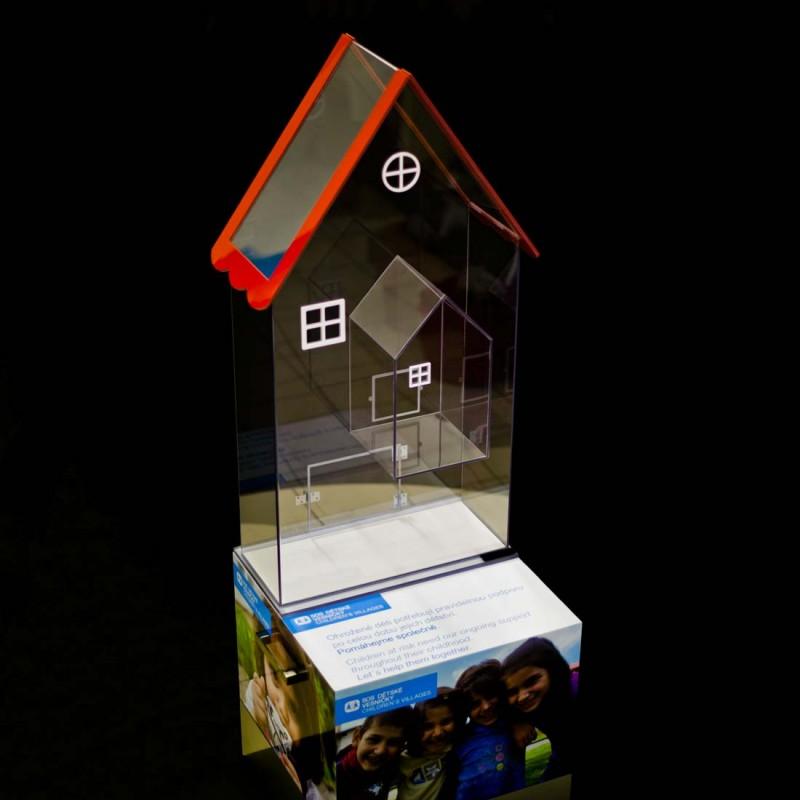Lepení plexiskla - plastová pokladnička